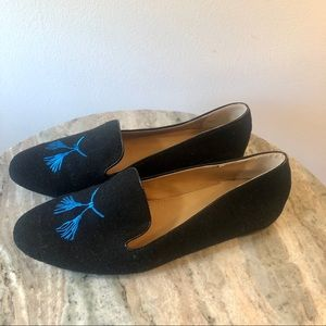 J Crew Loafers Black Size 8 Wool shoes